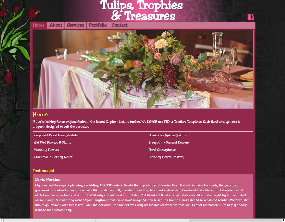 Tulips, Trohpies & Treasures website